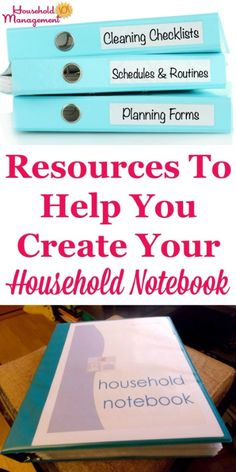 Household Notebook Resources