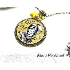 Fantasy Cadeaux Chat Citation Pendentif Alice Au Pays Des Merveilles Collier