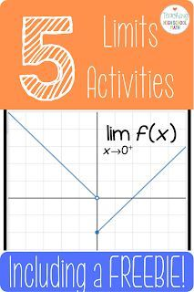 Teaching High School Math: Start Your Calculus Year Off Right - 5 Fun Limits Activities High School Activities, Math Activities, Math Games, Ap Calculus, Limits Calculus, Math Lab, Framed Words, Math Courses, Math Lesson Plans
