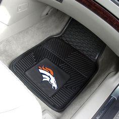 "NFL - Denver Broncos 2-pc Vinyl Car Mats 17""x27"""
