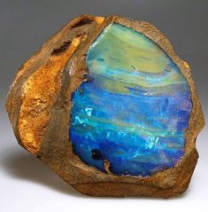 The ocean Opal (thunderegg) from Australia     The opal is the National Gemstone of Australia. Australia currently  produces approximatel...
