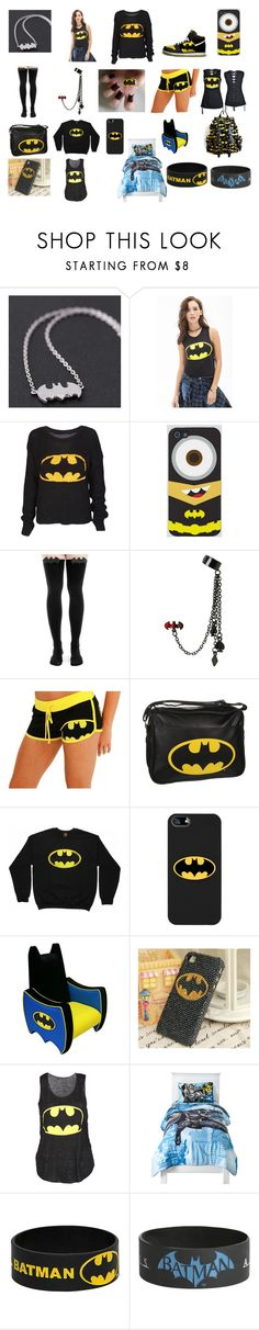 """Bat man stuff #5"" by vanessakitten ❤ liked on Polyvore featuring Forever 21, NIKE, Samsung, Coveroo and Newco"