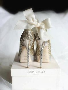 sparkly Jimmy Choos.