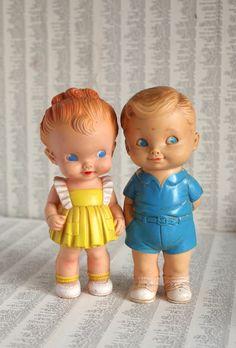 Little Boy Blue Vintage 1962 Squeaky Toy by ProfessorWoodruff