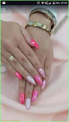 Trendy Pink Gel Nail Colors For American Girls, Romantic pink nails can flip you into a captivating aristocrat. these days we tend to ar here with an exquisite Pink Gel Nails, Gel Nail Colors, Shellac Nails, My Nails, Beige Nails, Gel Manicure, Glitter Nail Art, Gel Nail Art, Nail Nail