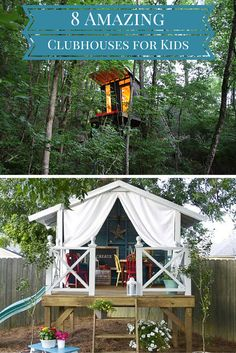 Wouldn't you like one of these in you backyard? Some really great ideas for kids playhouses and backyard forts.