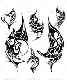 Tribal Tattoo — JPG Image #black #decorative • Available here → https://graphicriver.net/item/tribal-tattoo/5114291?ref=pxcr
