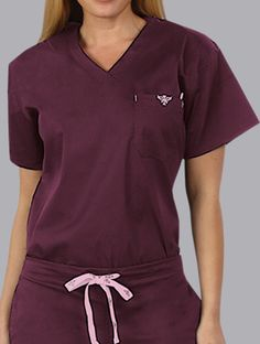 Med Couture 1-Pocket Top. Simple but perfect. Love the color combo