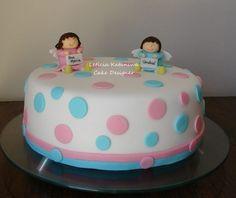 Little angels. bolo para batizado da Ana e André