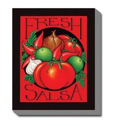 Fresh Salsa Outdoor Canvas Art