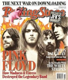 Rolling Stone magazine cover story on Pink Floyd and their troubles, April Rolling Stones, Like A Rolling Stone, Rolling Stone Magazine Cover, Pink Floyd, Pop Rock, Rock N Roll, Great Bands, Cool Bands, Musica Punk