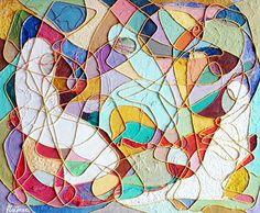 WOMEN (Mujeres) - 64x56 cm = 25x22 in - FIGURATIVE lyrical expressionism /// Expresionismo lírico FIGURATIVO - Ask for price (Pregunta precio) - www.freijanez.com/ - freijanez@gmail.com