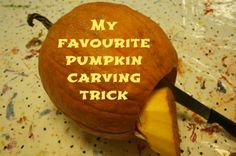 best pumpkin carving tip ever - makes lighting the candle SO easy! (happy hooligans)