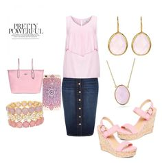 """Pinky Strikes"" by tholliscole on Polyvore featuring River Island, Natasha Accessories, Charles Albert, Coach, Bling Jewelry, Gab+Cos Designs and Zizzi"