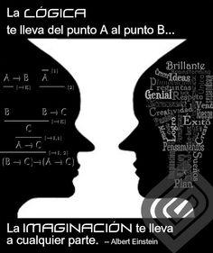 ... La lógica te llevará del punto A al punto B. La imaginación te llevará a cualquier parte. Albert Einstein.