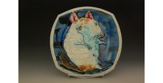 """Dirty Rat, Cone 6 porcelain, thrown and altered, 1""""x 8.75"""" x 8.75"""", 2014"""