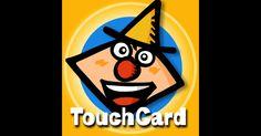 「タッチカード」 画面に触れれば何か面白い音や映像の反応が返ってくる.