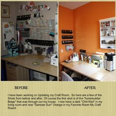 before and after My Craft Room