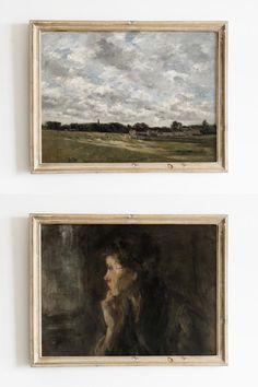 Sheep Paintings, Vintage Paintings, Oil Paintings, Landscape Prints, Landscape Paintings, Sheep Art, Design Art, Interior Design, Japanese Aesthetic