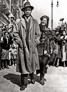 Joe Louis and wife Marva
