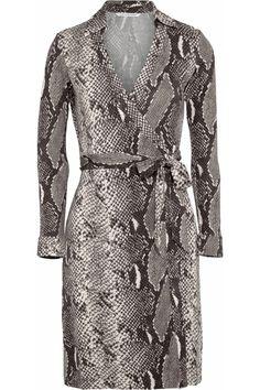 67c77d51dc Diane von Furstenberg - New Jeanne python-print silk-jersey wrap dress