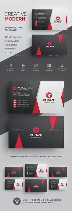 Modern Business Card Template - #Corporate #Business #Cards Download here: https://graphicriver.net/item/modern-business-card-template/19716913?ref=alena994