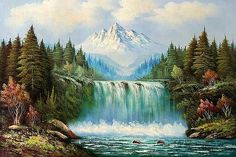Oil Painting Gallery, Modern Oil Painting, Oil Painting On Canvas, Canvas Canvas, Fantasy Landscape, Landscape Art, Landscape Paintings, Oil Paintings, Pictures To Paint