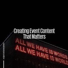 How do you create event content with coherence, relevance and meaning? Find out in our latest blog  #event #createcontent #contentcreator #eventtrends #eventplanner #interactive #digitalsolution #engagement #brandengagement #events #eventphotography #eventphotographers #digitalmarketing #videoportrait #imagesocialmedia#mediacontent