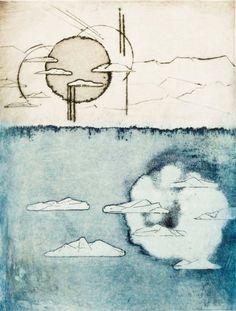 Jan Montyn Zonder titel Zeefdruk 40 x 52 cm Jan Montyn (Oudewater, 1924) staat bekend om zijn etsen. Erg mooi, hangt fantastisch ;-)