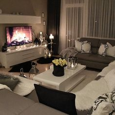 Classy living rooms interior designs classy living rooms room decor classy living room design ideas home . Cozy Living Rooms, Apartment Living, Home And Living, Living Room Decor, Living Spaces, Small Living, Studio Apartment, Cozy Apartment, Apartment Ideas