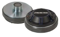"""Pyle-Pro PDS382 1.75'' Titanium Screw On Horn Driver 8 Ohm 1-3/8'' x 18 TPI by Pyle. $33.15. This 1.75"""" horn driver may be small, but it packs a big punch, providing 400 watts peak power. It's all because of the 21 oz. neodymium magnet with titanium diaphragm, ultimately achieving a frequency response of 1000 Hz to 20 kHz. The 1.75"""" flat aluminum voice coil provides rich mids and sweet highs. 205-type terminals, 8 ohm impedance. Fits horns with 1 3/8"""" x 18 TPI t..."""