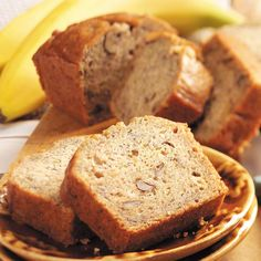 My favorite Zucchini Banana Bread Recipe -I got this Zucchini Banana Bread recipe from a friend at work and now it's one of my favorites. It makes three small loaves, but they freeze very well. —Donna Hall, Wolfforth, Texas