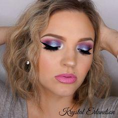 Purple with a Pop Makeup Tutorial by Krystal Erlandson. Makeup Geek Blush in Valentine. Makeup Geek Duochrome Pigment in Sugar Rush. Makeup Geek Eyeshadow in Curfew, Motown, and Fashion Addict. Makeup Geek Foiled Eyeshadow in Caitlin Rose.