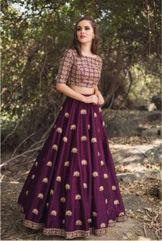 Purple Malai Satin Lehenga Choli is part of Lehenga gown - Shop Purple Malai Satin Lehenga Choli at Nihalfashions com Shop online from an premium collection of women's Lehenga Choli at best prices Buy now! Lehenga Gown, Party Wear Lehenga, Indian Lehenga, Bridal Lehenga, Anarkali, Lehenga Blouse, Long Gown Dress, The Dress, Lehnga Dress