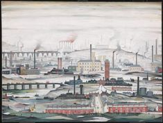 L.S. Lowry 'Industrial Landscape', 1955 © The estate of L.S. Lowry