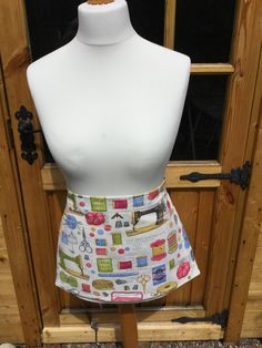 Apron, Handmade, Pockets, Haberdashery , Cotton,  Linen, Fabric, Sewing, Gift. by Buttons2uyorkshire on Etsy