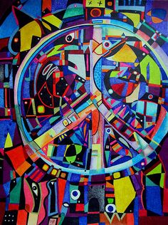 Peace sign - multi-colored, busy but cool. #wagepeace #peacout