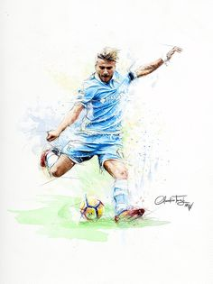 Ciro Immobile by Claudio Tosi [Mirror Walkers] #Illustration #Sport #Design #CiroImmobile #Calcio #Soccer #Football #Graphic #Action #ssLazio #Lazio #SerieA #Art #Artwork