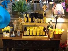 """Here at The Montage we carry The Naked Bee products - lotion, wash, sunscreen, & facial care - which are 70% certified organic with """"All the good stuff, none of the bad stuff."""" It uses ingredients such as certified organic aloe, honey, & white tea extract oil but none of the harmful stuff (paraben-free, no propylene glycol, no drying alcohol, no laurel or laureth sulfate, & no animal testing) to ensure SAFE and quality products! And it smells great! Stop in & try one of our testers."""
