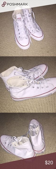 Converse all star high Worn a couple of times Good condition  White high top Converse Shoes