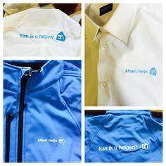 Blouses en softshell jassen voorzien van zeefdruk logo.