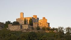 The Antognolla Castle above the Golf Club, near Perugia in Umbria