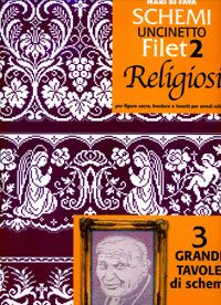 UNCINETTO RELIGIOSI Drawn Thread, Thread Work, Filet Crochet, Kirchen, Doilies, Diy And Crafts, Cross Stitch, Georgia, Easter