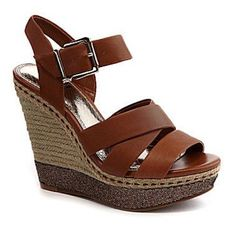Gianni Bini Wedge Sandals Cute brown wedges with sequin details on the side by GB by Gianni Bini. Worn a few times but otherwise good condition! Gianni Bini Shoes Sandals