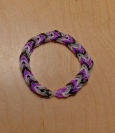 Asexual Pride Flag Loom Bracelet (Stripe) from AeronMadeThis on Etsy