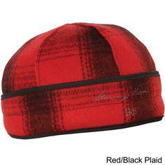 Red plaid beenie