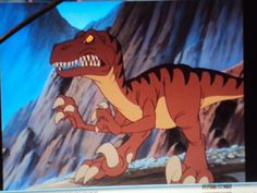 """This cartoon Velociraptor runs across the screen in """"The Land Before Time. Character Inspiration, Character Design, Dinosaur Pictures, Land Before Time, Game Design, Disney Characters, Fictional Characters, Cartoon, Illustration"""