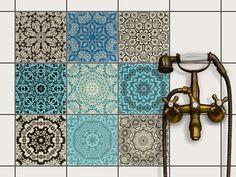 Marokkanische Fliesenaufkleber - orientalisches Design, hochwertiges Mosaik. Der Eyecatcher im Badezimmer! ❤ Design Marocain, Tadelakt, Motif Design, Sink, Monogram, Concept, Interior, Pattern, Home Decor