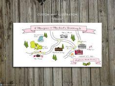 Beautiful Custom Wedding Map