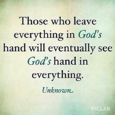 #Let go & let God
